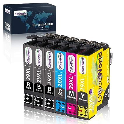 OfficeWorld 29XL Alta Capacidad Cartuchos de Tinta Compatible para Epson 29 con Epson Expression Home XP-235 XP-245 XP-247 XP-255 XP-342 XP-332 XP-335 ...