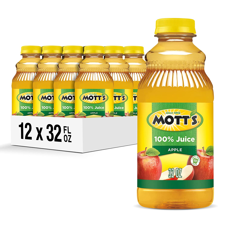 Mott's Apple Juice, 32-Ounce Bottles (Pack of 12)