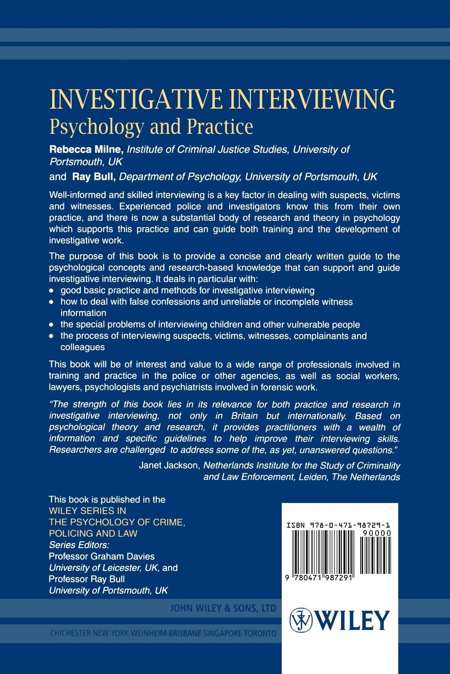 investigative interviewing psychology and practice wiley series investigative interviewing psychology and practice wiley series in psychology of crime policing and law amazon co uk rebecca milne
