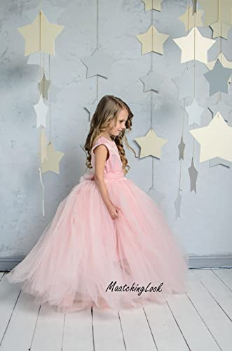 2e2b6a10b Amazon.com  Flower Girl Dress Blush Pink