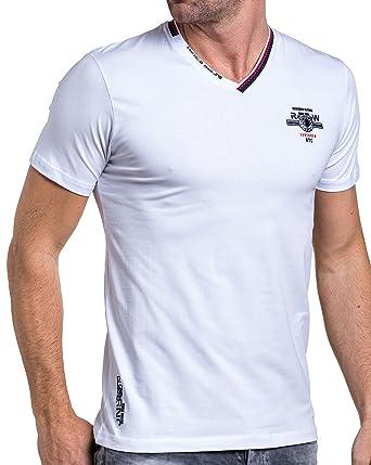 BLZ jeans - Weiße T-Shirt mit V-Ausschnitt und modisch gedruckt - Color