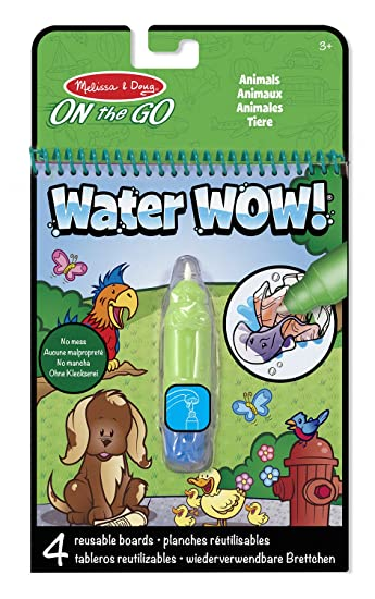Melissa & Doug Water Wow Malblock - Malen mit Wasser - Tiere: Amazon ...