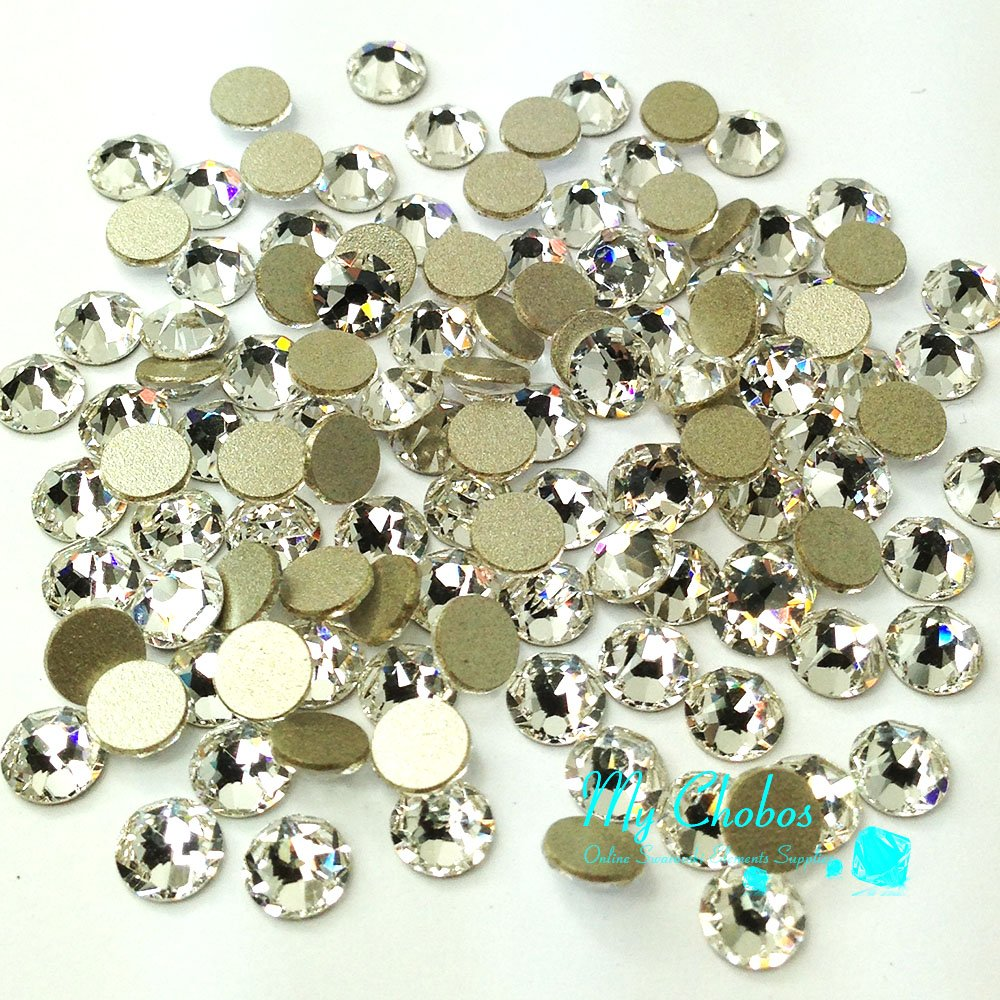 1440 pcs (Factory Pack) Crystal (001) clear Swarovski NEW 2088 Xirius 16ss Flat backs Rhinestones 4mm ss16 by Crystal-Wholesale