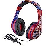 Spider Man Kids Headphones, Adjustable Headband, Stereo Sound, 3.5Mm Jack, Wired Headphones for Kids, Tangle-Free…