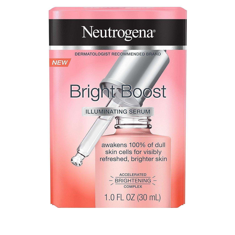 Neutrogena Bright Boost Illuminating Face Serum with Neoglucosamine & Turmeric Extract for Even Skin Tone, Resurfacing Serum for Face to Reduce Dark Spots & Hyperpigmentation, 1.0 fl. oz