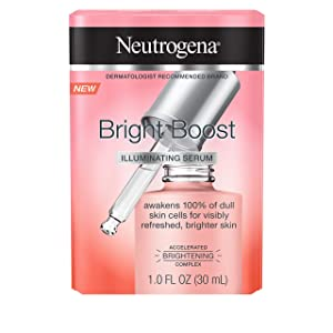 Neutrogena Bright Boost Illuminating Face Serum with Neoglucosamine & Turmeric Extract for Even Skin Tone, Resurfacing Serum for Face to Reduce Dark Spots & Hyperpigmentation, 1.0 fl. oz