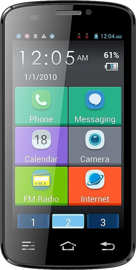 Telefunken TS450 Cosi Smartphone Senior Phone Black: Telefunken ...