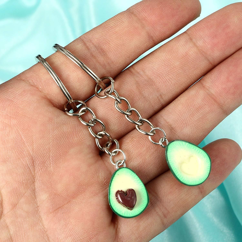 Amazon.com: Llavero con forma de corazón de aguacate de ...