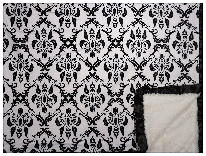 Minky Couture Printed Premium Blanket - Soft, Warm, Cozy, Comfortable, Perfect Gift! (Grande, Paris B/W)