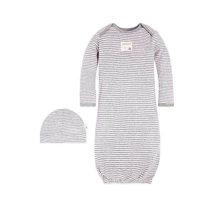 acfd9110a Amazon.com  Burt s Bees Baby - Unisex Sleeper Gown   Hat Set