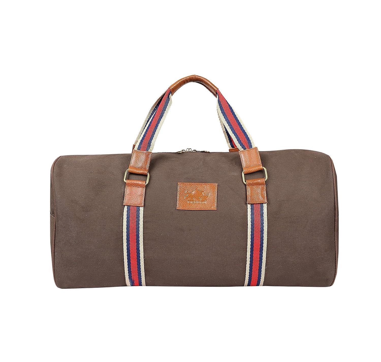 Kifaaru Unisex 21 inch 35 Liters Big Canvas Travel Bag Duffle Bag Overnight Bag Weekend Bag Cabin Bag Sports Bag...