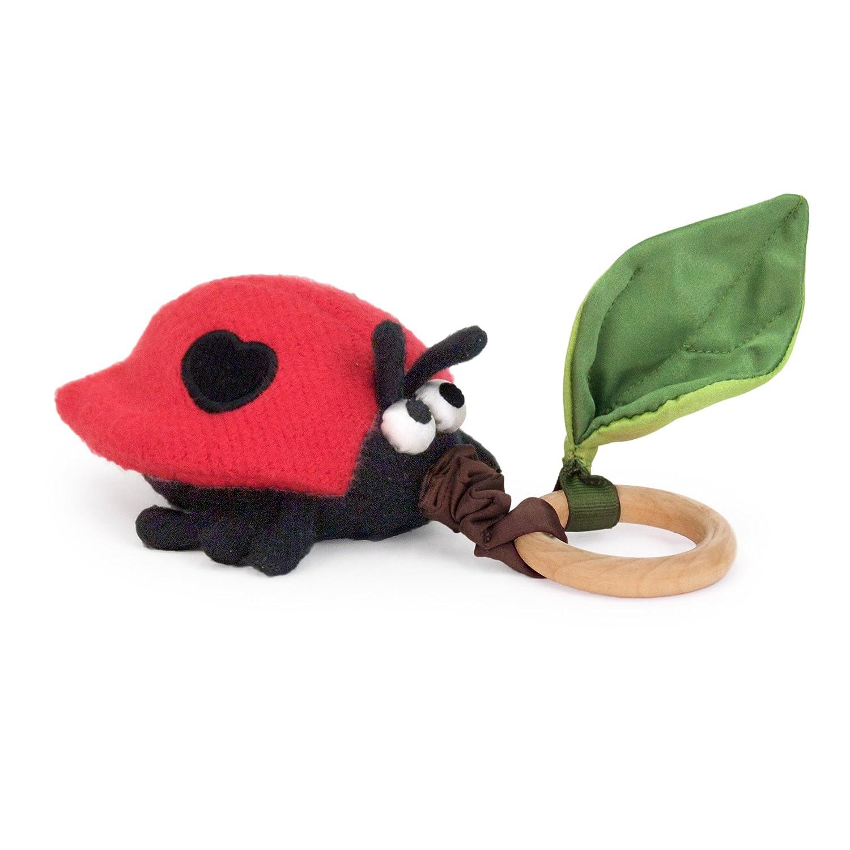 Apple Park Critter Teething Toy, Ladybug