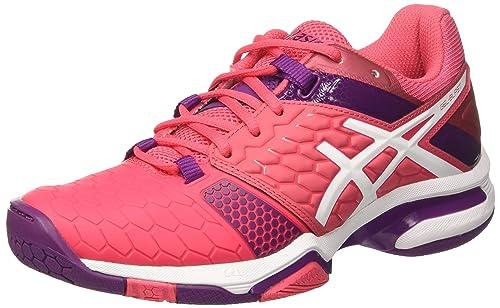 Asics Gel-Blast 7, Zapatos de Balonmano Americano para Mujer, (Rouge Red/White/Prune), 36 EU: Amazon.es: Zapatos y complementos