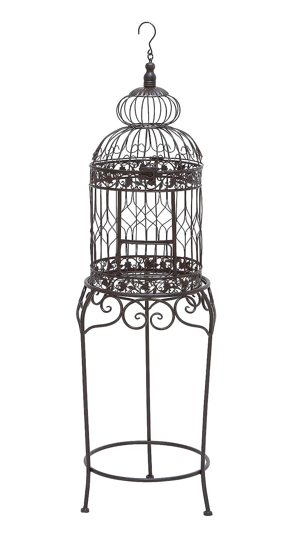 Deco 79 55122 Metal Bird Cage, 47 x 14 47 x 14 Benzara