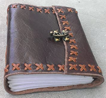Antique Brown Leather Journal Diary Leather Cord Coptic bound Handmade