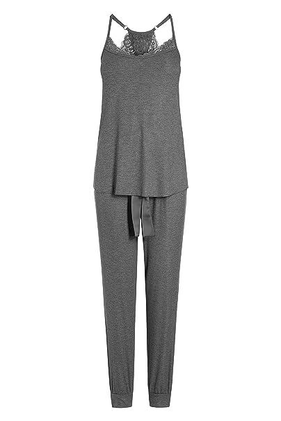 next Mujer Pijama De Pantalones Y Camiseta De Tirantes Finos Textura De Canalé