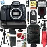 Canon EOS 6D Mark II 26.2MP Full-Frame Digital SLR Camera (Body Only) with Canon BG-E21 Battery Grip Accessory Bundle