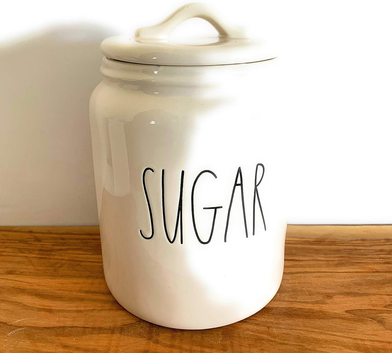 Rae Dunn SUGAR キャニスター - セラミック - 高さ9インチ - 食器洗い機使用可 - 非常に稀です。