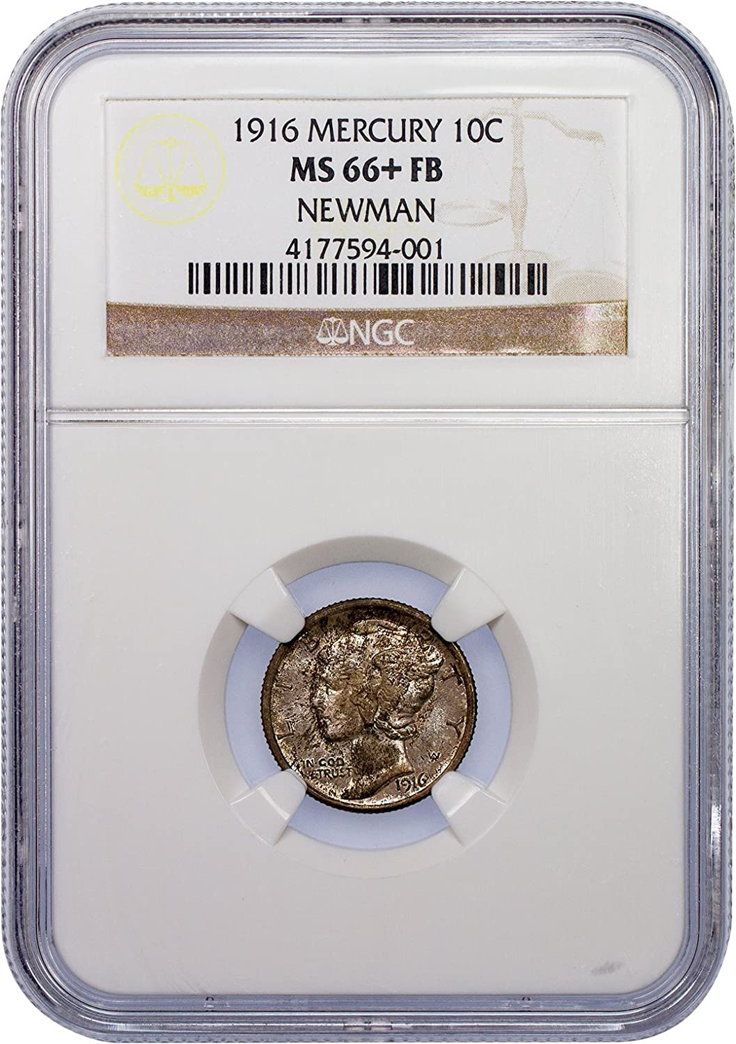 1944 D Mercury Dime certified MS 66 FB by NGC Full Bands!