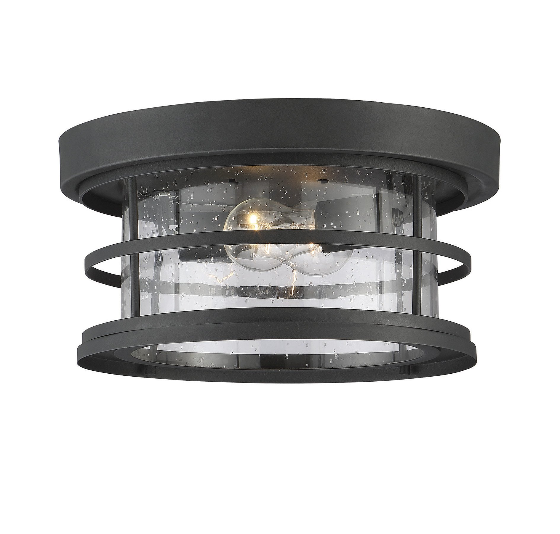 Savoy House Barrett 13'' Outdoor Ceiling Light in Black 5-369-13-BK