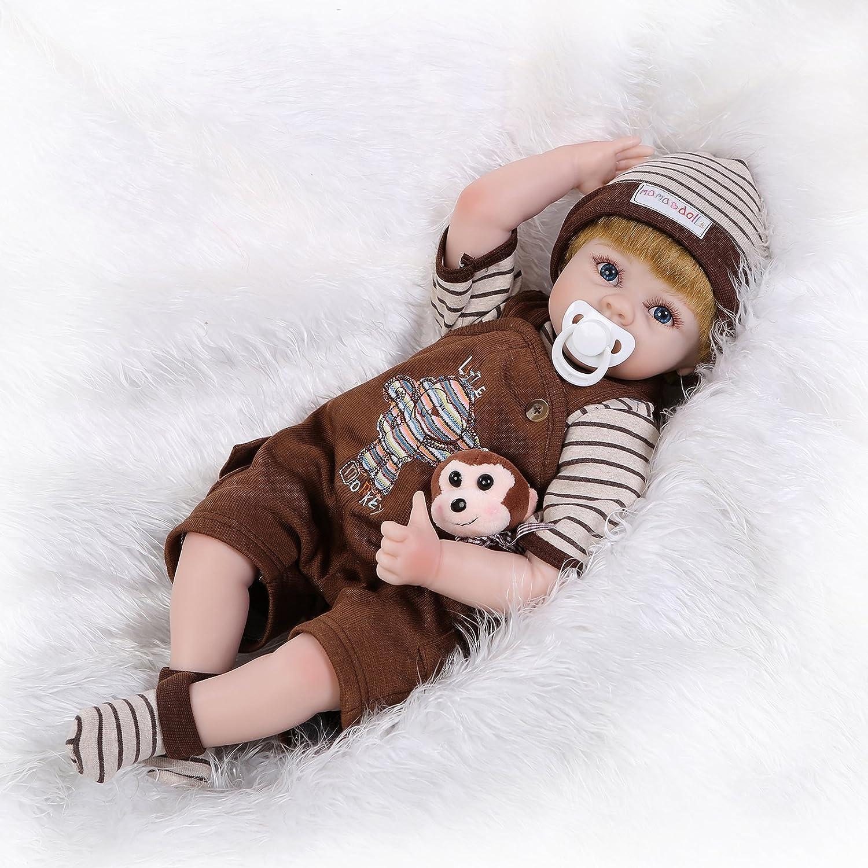 ピンキー55 cm 22インチRealistic Life Like人形Rebornベビー人形新生児幼児用LifelikeベビーガールRootedファイバーヘアおもちゃクリスマスギフト