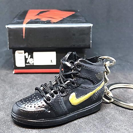 various colors 75b9a 49d97 Amazon.com  Air Jordan I 1 Retro Black Gold BHM Black History Month OG Sneakers  Shoes 3D Keychain Figure 1 6 + Shoe Box  Everything Else