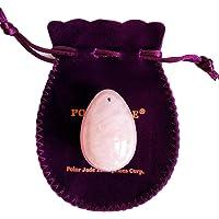 Yoni Egg of Rose Quartz, Drilled, Medium, with