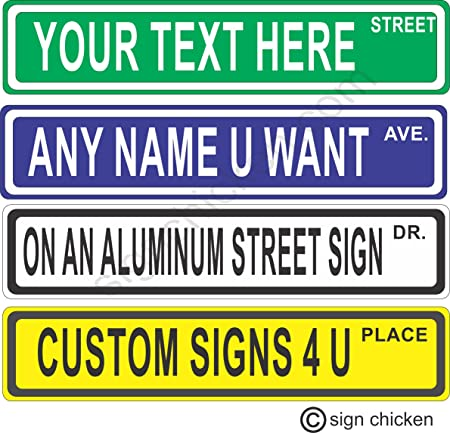 "7588 SS Tanzania 4/"" x 18/"" Novelty Street Sign Aluminum"
