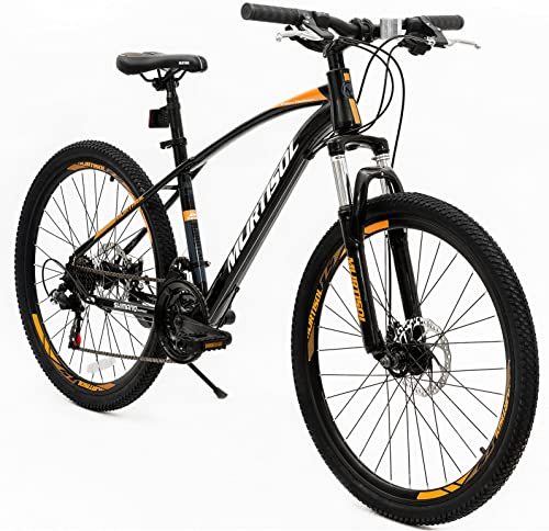 Murtisol Aluminum Comfort Bike 26 Commuter Bike Mountain Bike Hybrid Bike for Women 21 Speeds Derailleur, Front Seat Suspension, Adjustable Seat Handlebar