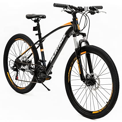 1f9e0e9d628 Murtisol Aluminum Mountain Bike 26'' Suspension Hybrid Bicycle with Dual Disc  Brake,21 Speeds Derailleur and Adjustable Seat,Designed Cool Frame for ...
