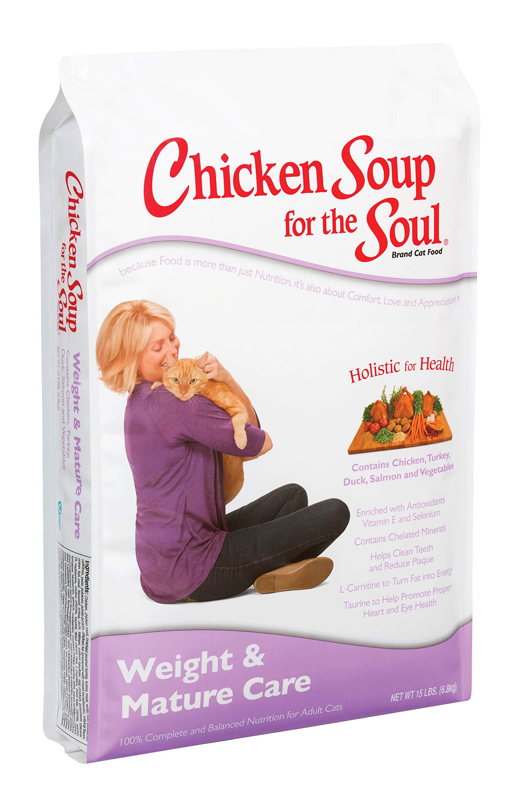 Chicken Soup for the Soul Weight & Mature Care Cat Food- Chicken & Brown Rice Recipe, Dry Cat Food by Chicken Soup for the Soul