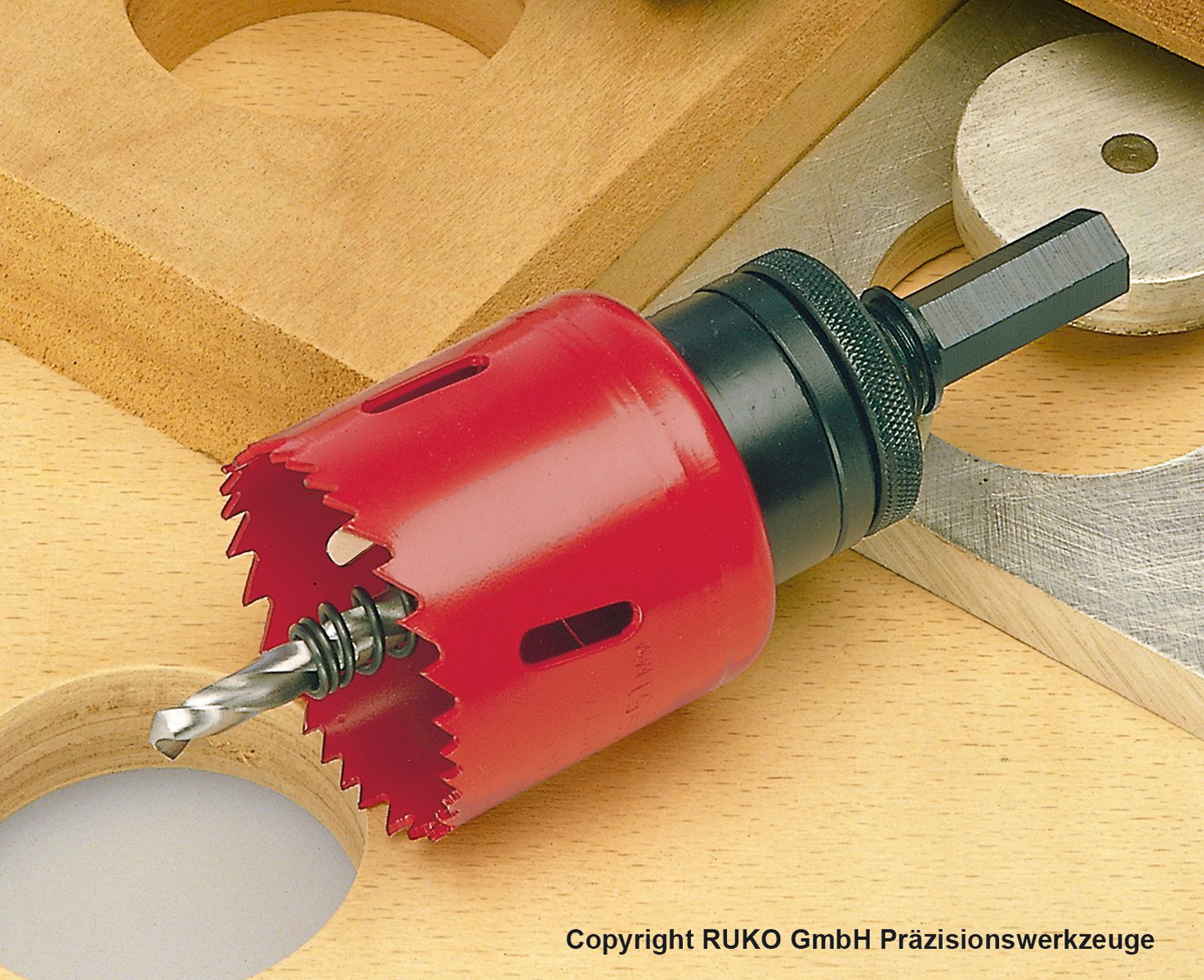 Corona perforadora HSS bimetal 40 mm dentado variable Ruko 106040