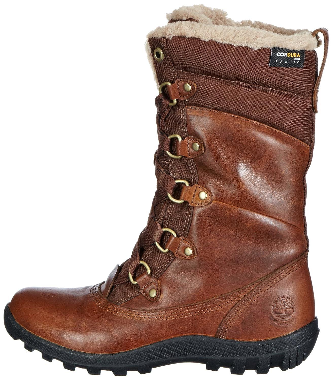 Mount Hope Fabric and Leather Waterproof, Botas para Mujer, Marrón (Dark Brown), 39 EU Timberland