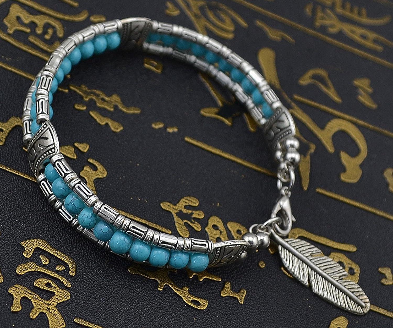 Idealway Vintage Turquoise Colorful Bracelet Image 2