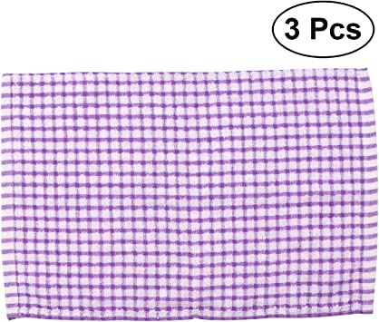 40/x 27/cm 3/unidades color morado BESTONZON Besto nzon Premium algod/ón saugf/ähigen pa/ños de cocina pa/ños Lavado secar