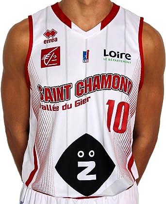 Errea St. Chamond Basket réplica hogar – Camiseta de Baloncesto ...