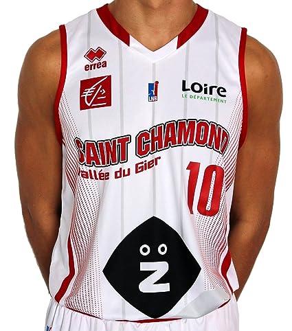 Errea St. Chamond Basket réplica hogar – Camiseta de Baloncesto para Hombre, Hombre,