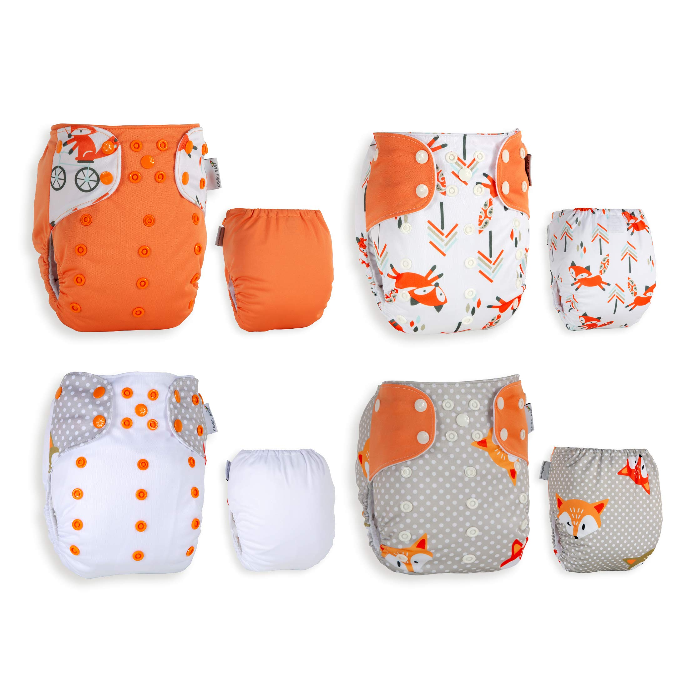 Best Seller! KaWaii Baby 20 One Size Printed Snap Cloth Diaper Shells/Spring Sunshine Theme/Reusable/Newborn to Toddler by Kawaii Baby (Image #6)