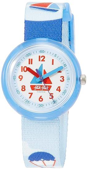 Flik Flak Reloj Analógico para Nios de Cuarzo con Correa en Tela FPNP028: Amazon.es: Relojes