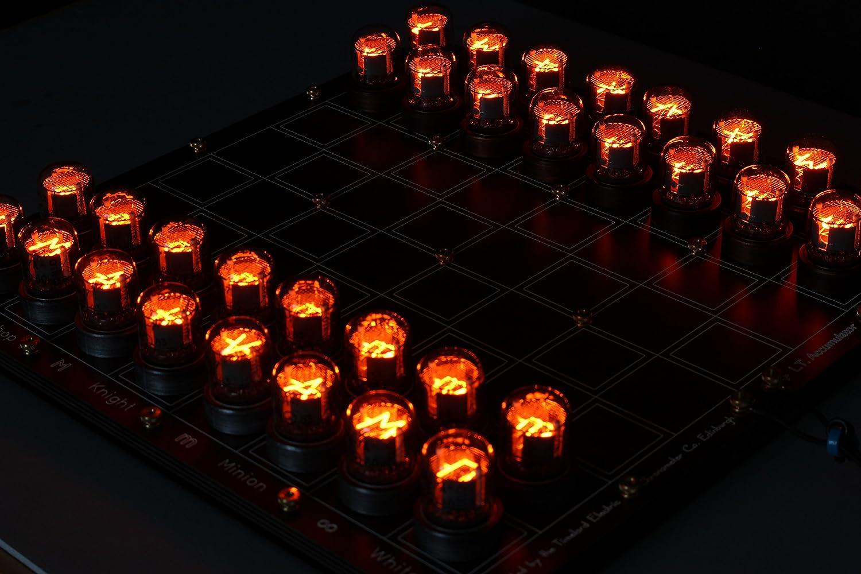 Nixie Chessboard DIY Kit, round IN-7 Nixies Included