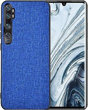 AOYIY Funda Xiaomi Mi Note 10, Xiaomi Mi Note 10 Fundas, Estuche de Silicona híbrida a Prueba de Golpes PU y PC para Xiaomi Mi Note 10 (Azul Marino): Amazon.es: Electrónica