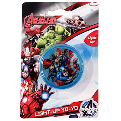 KidPlay Products Kids Marvel Avengers Light Up LED Yo Yo Toy with Captain America and Thor: Toys & Games