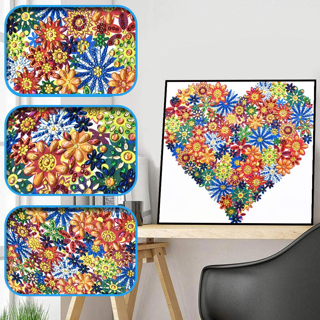 CHBC Heart 5D Special Shaped Diamond Painting Embroidery Needlework Rhinestone Crystal Cross Crafts Stitch Kit DIY