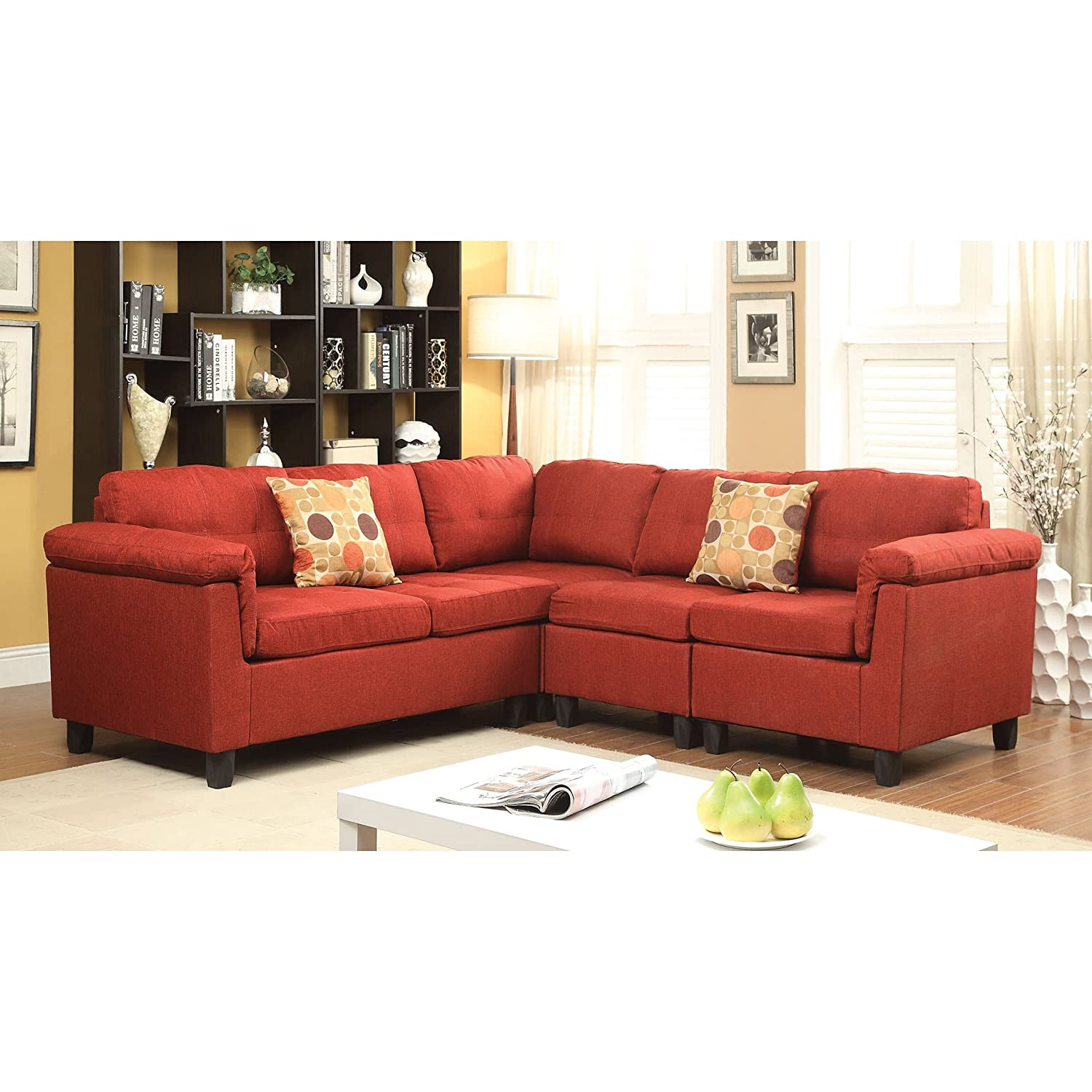 Amazon ACME Furniture Cleavon Sectional Sofa with 2