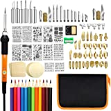 Wood Burning Kit, PETUOL 110PCS Wood Burning Tool with Adjustable Temperature 200~450°C, Professional Pyrography Pen for…