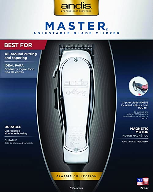 Andis Master Hair Clipper, Silver (01557)