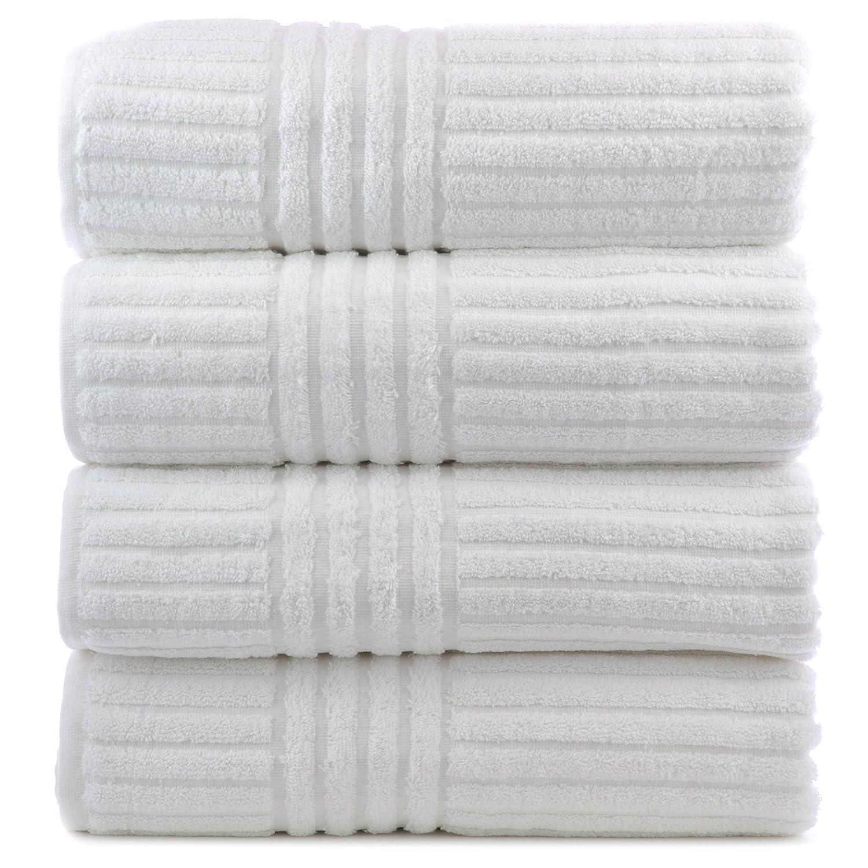 Amazoncom Luxury Hotel Spa Towel Turkish Cotton Stripe White