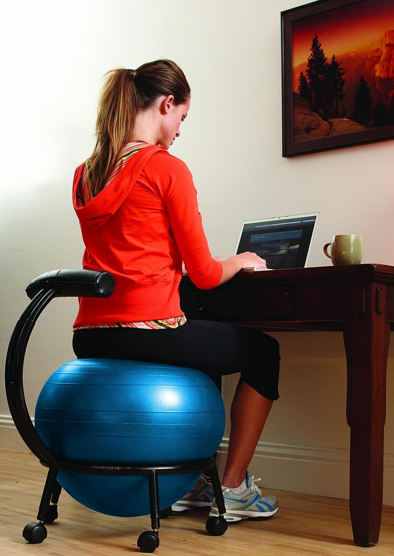 Amazon Gaiam Adjustable CustomFit Balance Ball Chair Blue – Sitting on Exercise Ball Instead of Chair