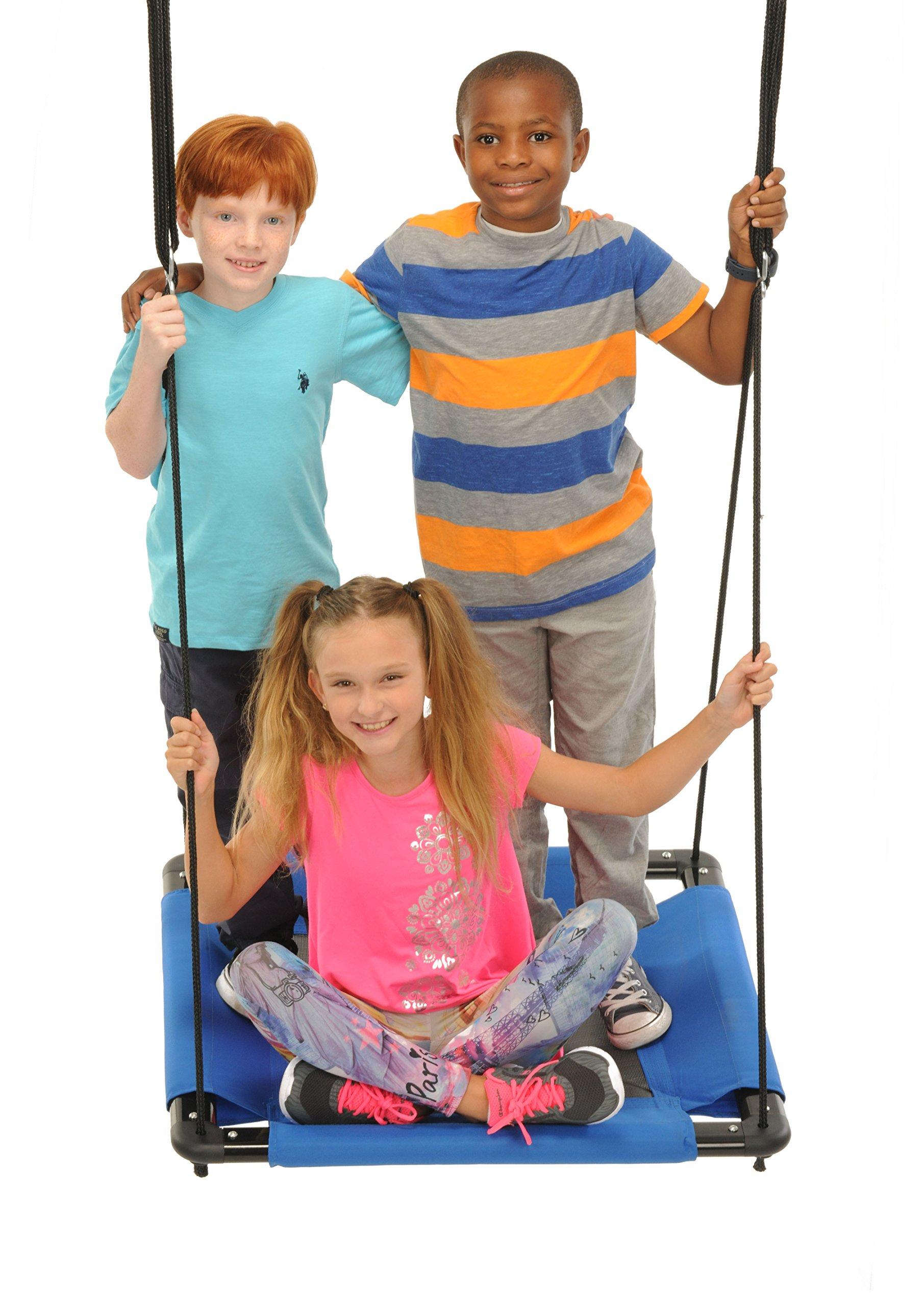 Swinging Monkey Products Square Platform Swing, Blue, 32'' by Swinging Monkey Products