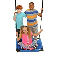 Swinging Monkey Products Square Platform Swing, Blue, 32""